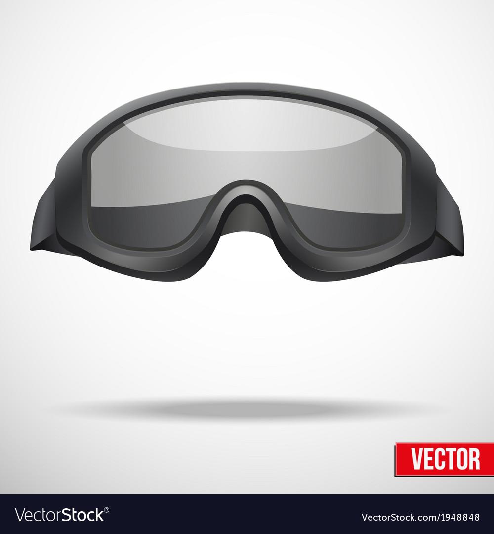 Military black goggles vector