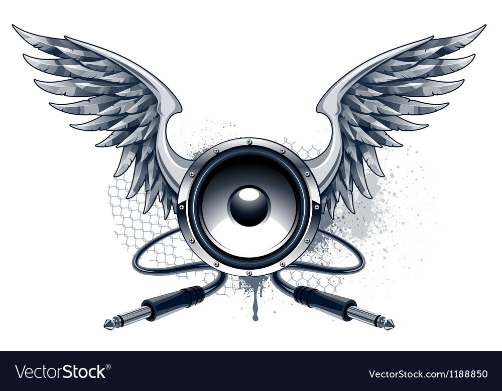 Musical grunge image vector
