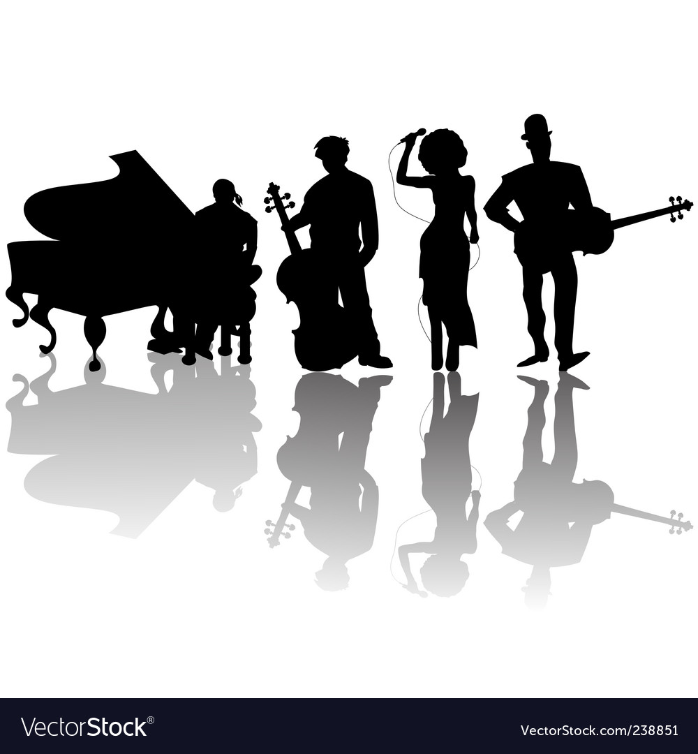Jazz players vector