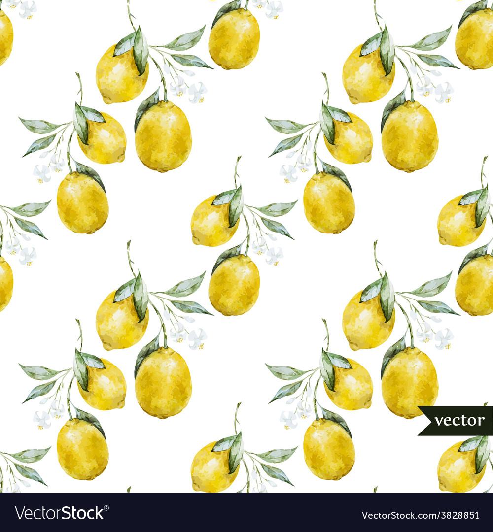 Lemon pattern2 vector