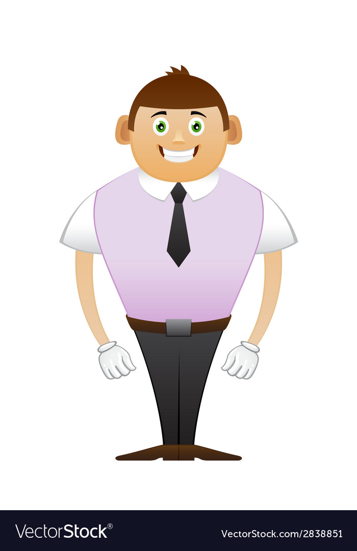 Thin office man hollywood smile vector
