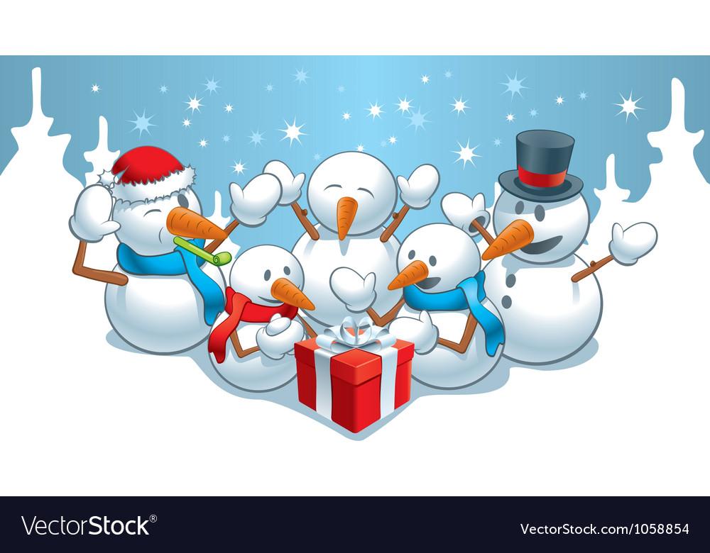 Gift for snowmens vector