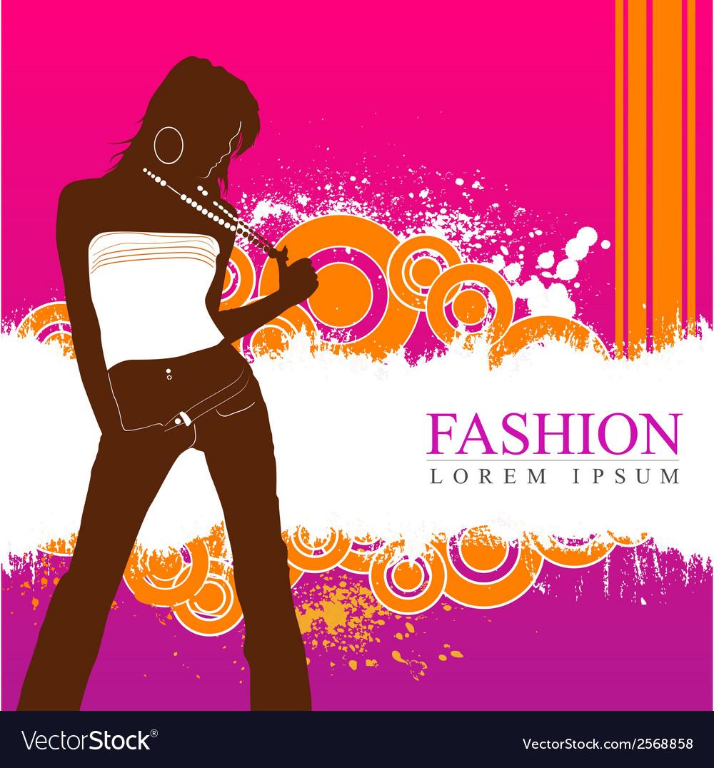 Fashion women model vector