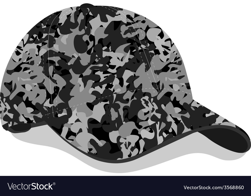 Military cap vector