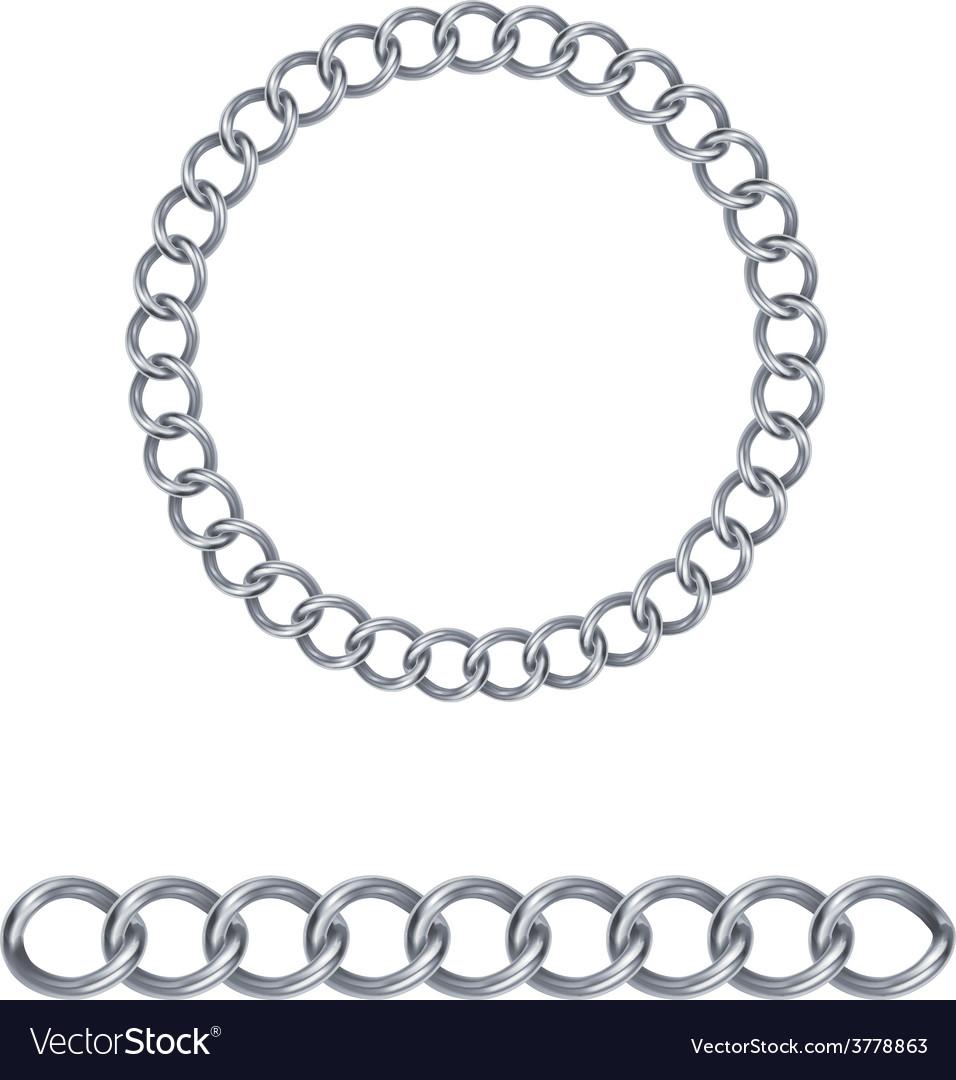 Silver chain vector