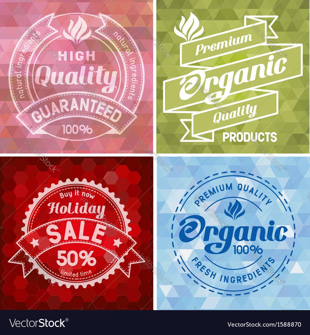 Label design vector