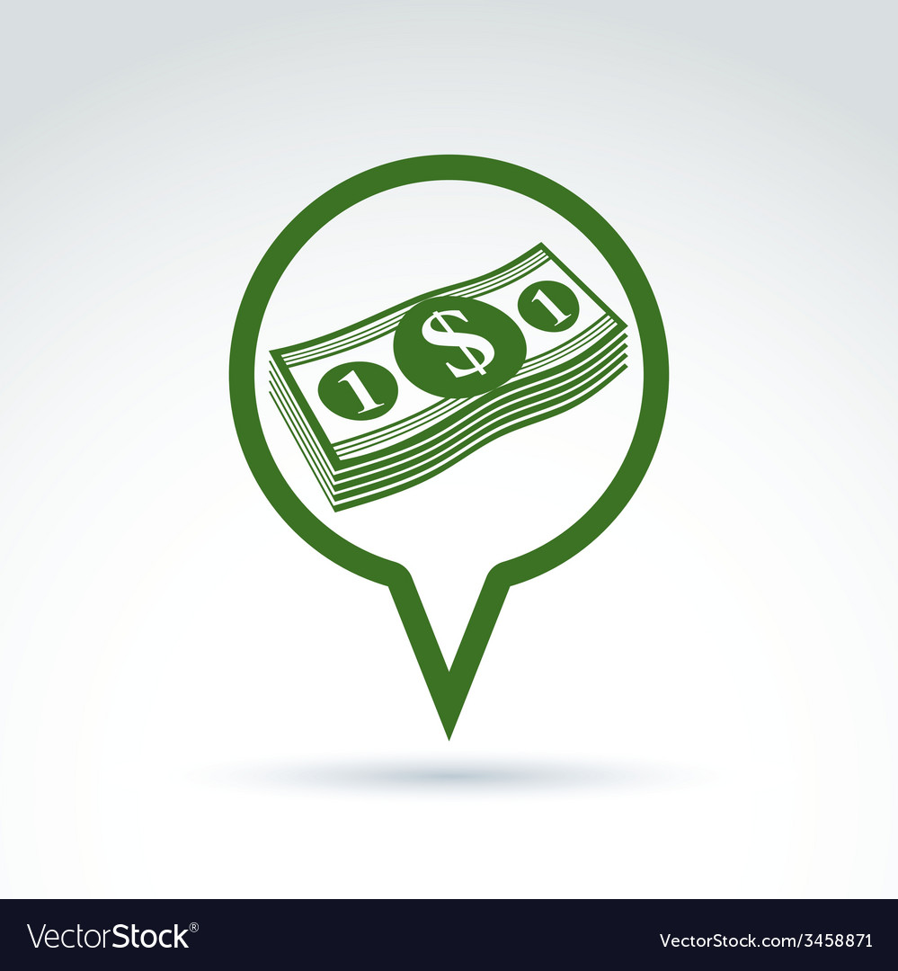 Business idea discussion concept chat on economics vector
