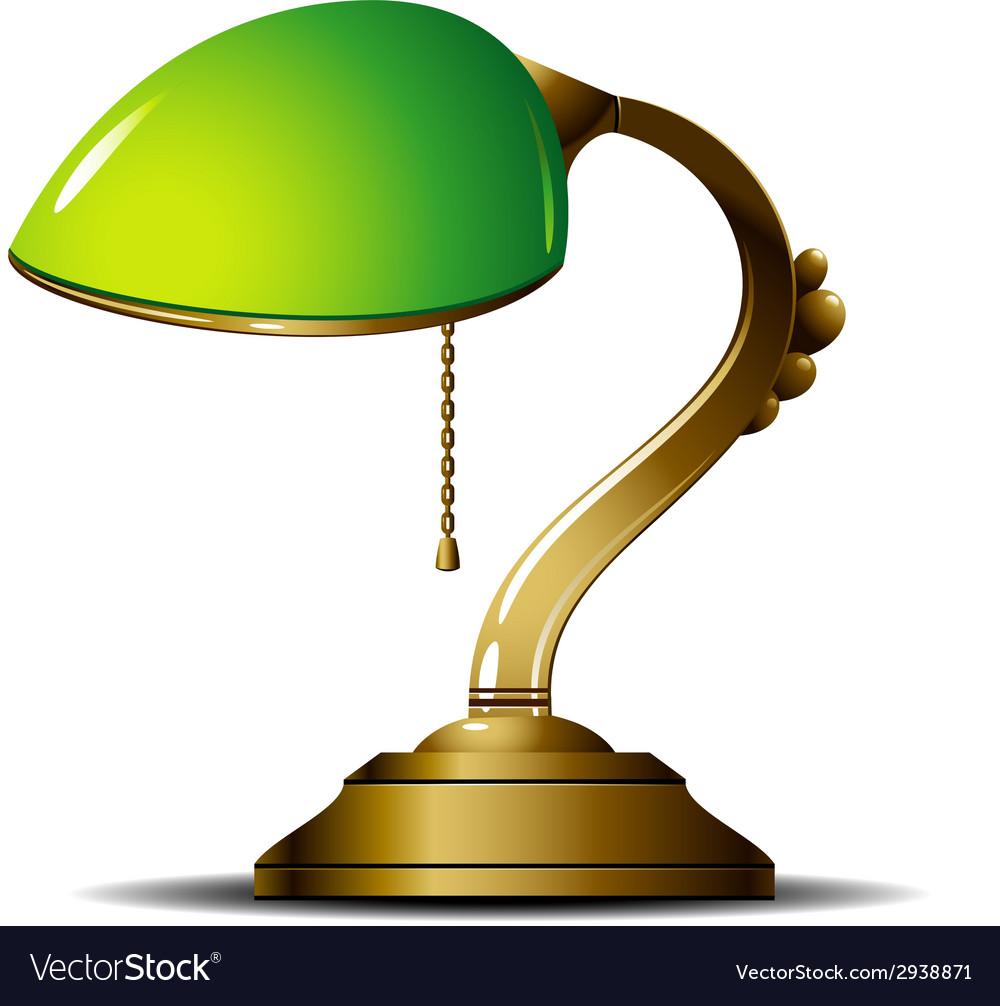 Green lamp vector