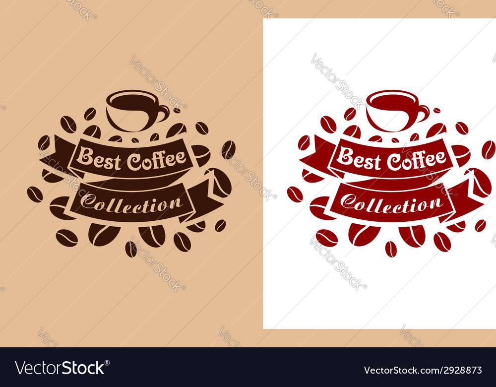 Best coffee retro banner vector