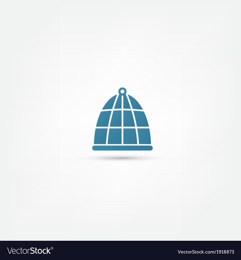 Bird cage icon vector