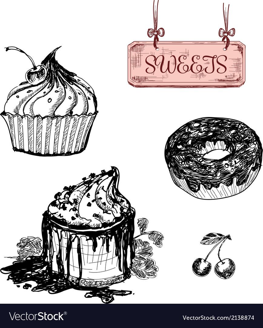 Sweets dessert vector