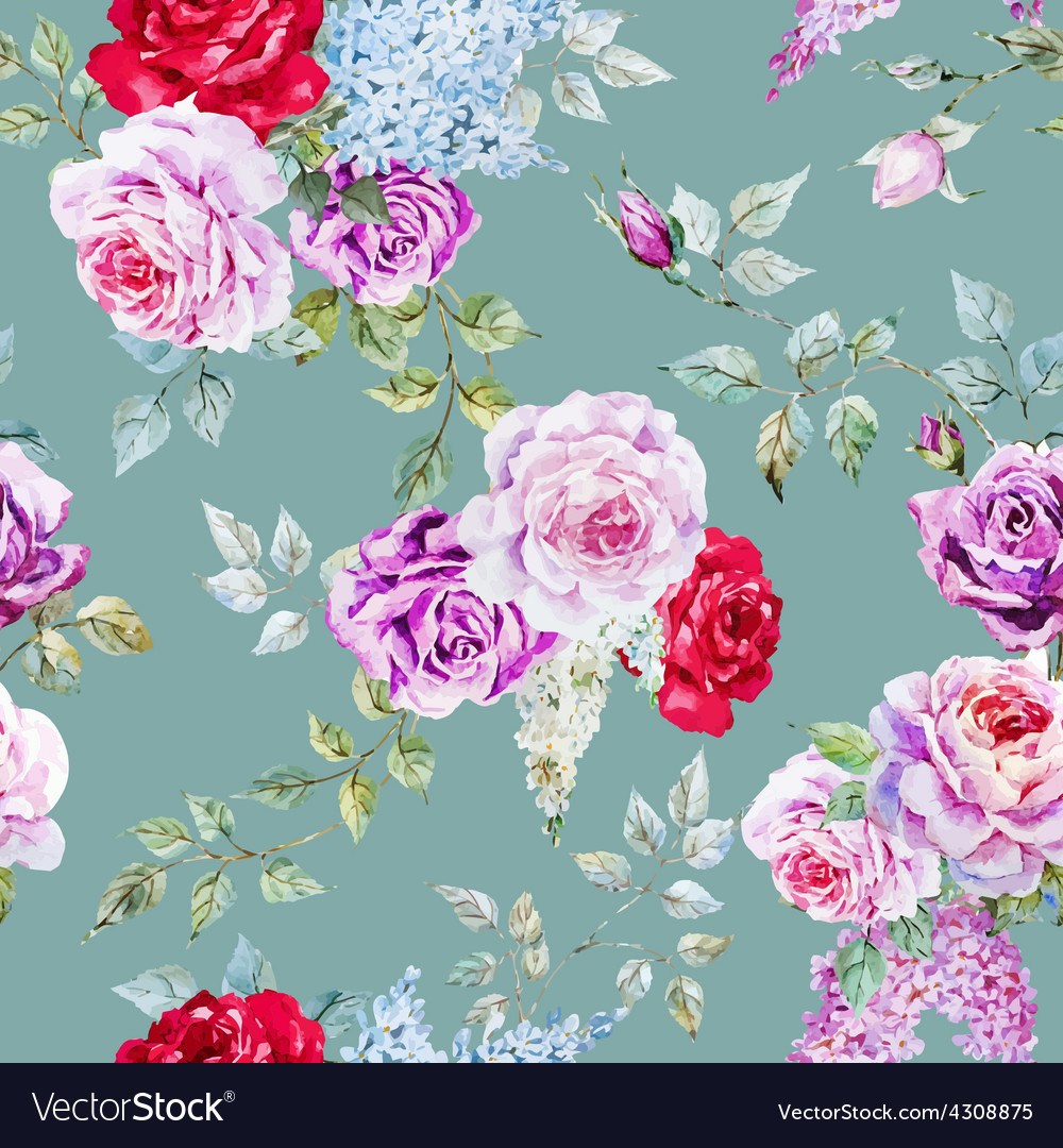 Nice rose pattern vector
