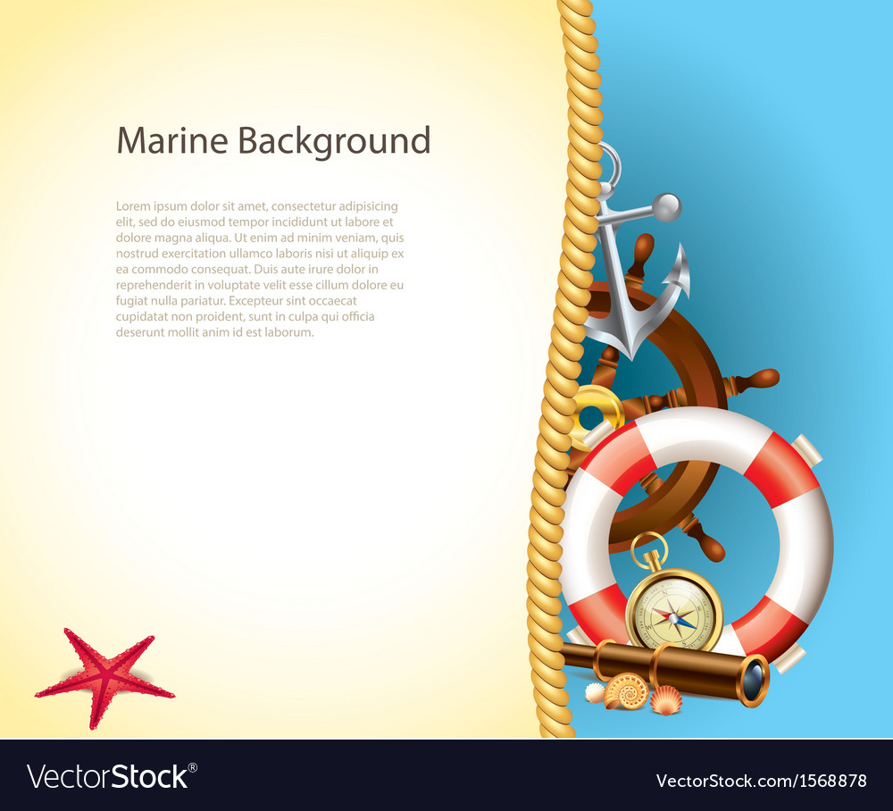 Marine background rope vector
