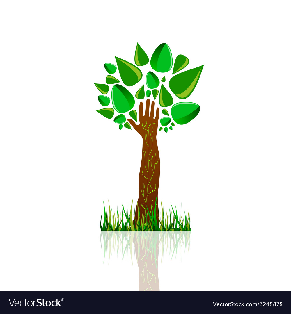 Tree nature color vector