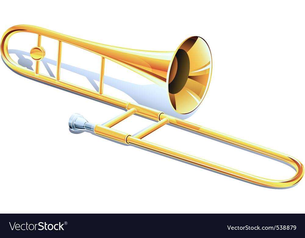Trombone instrument vector