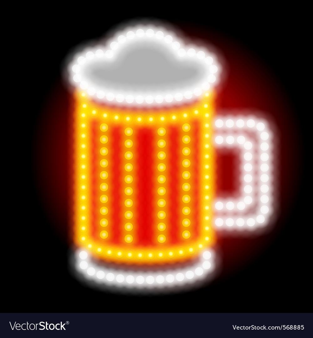 Beer neon sign vector
