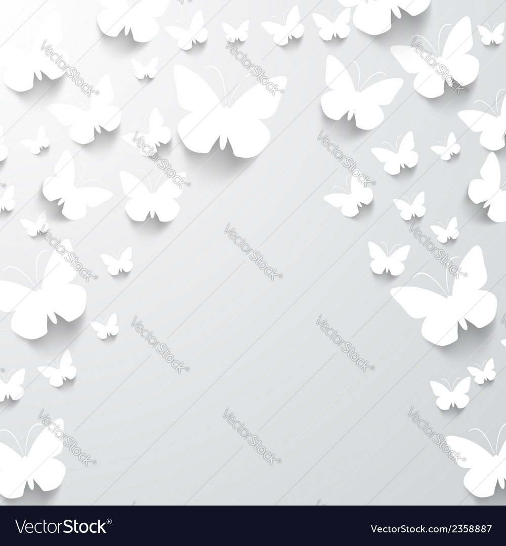 Paper butterfly background vector