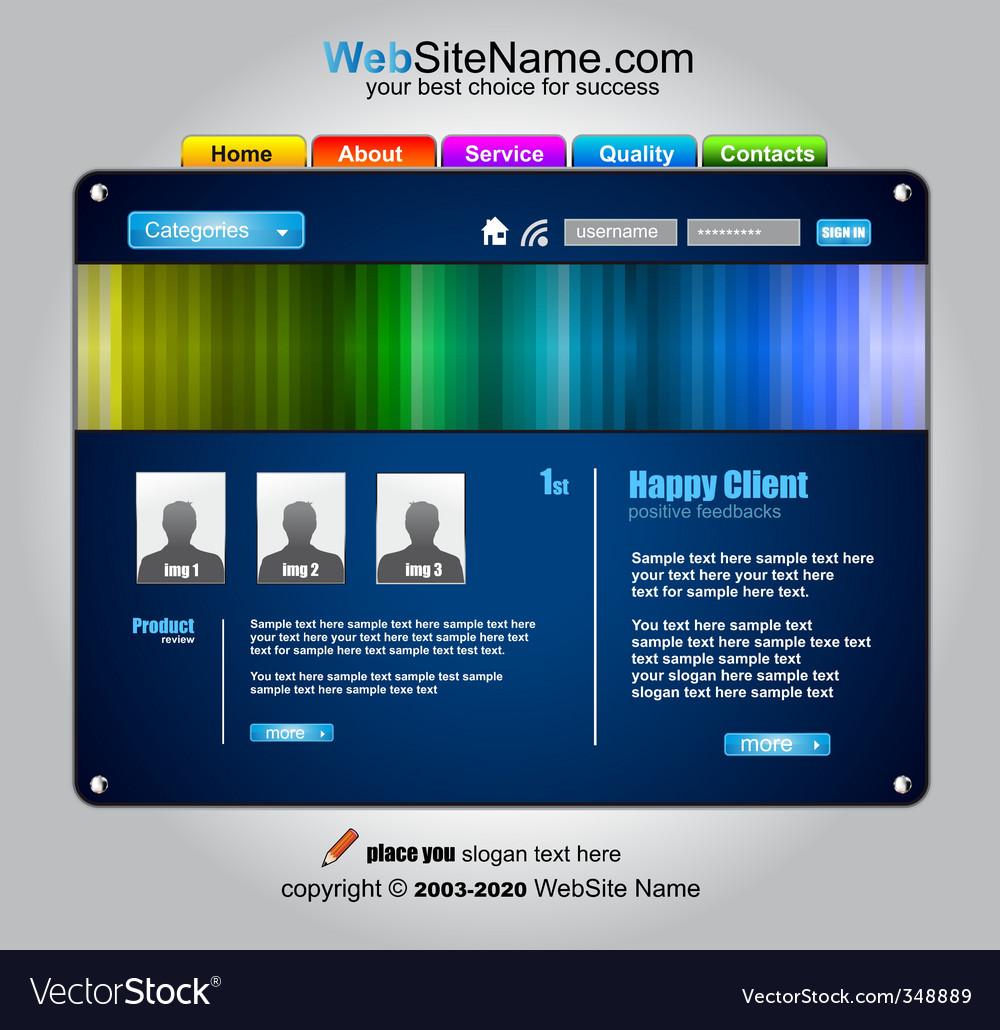 Web design template vector