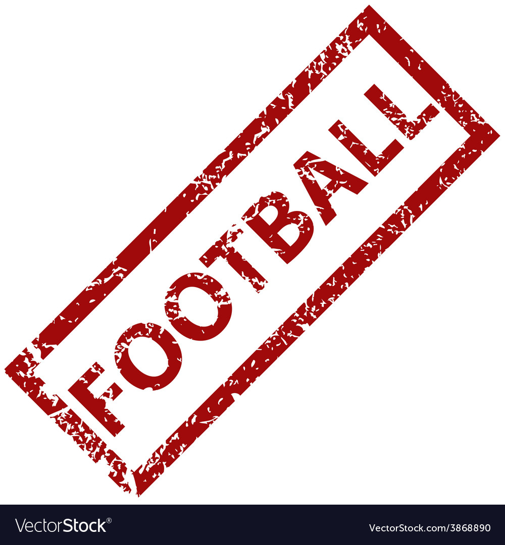 Football rubber stamp vector