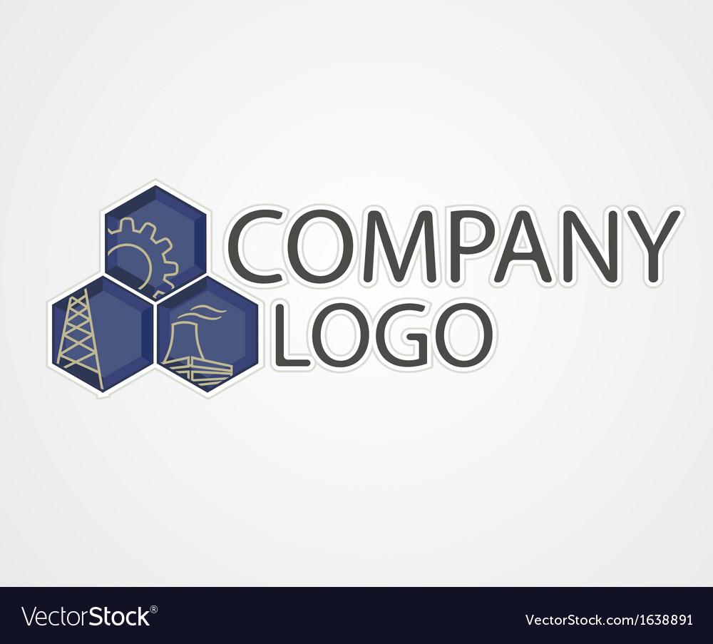 Industrial logo vector