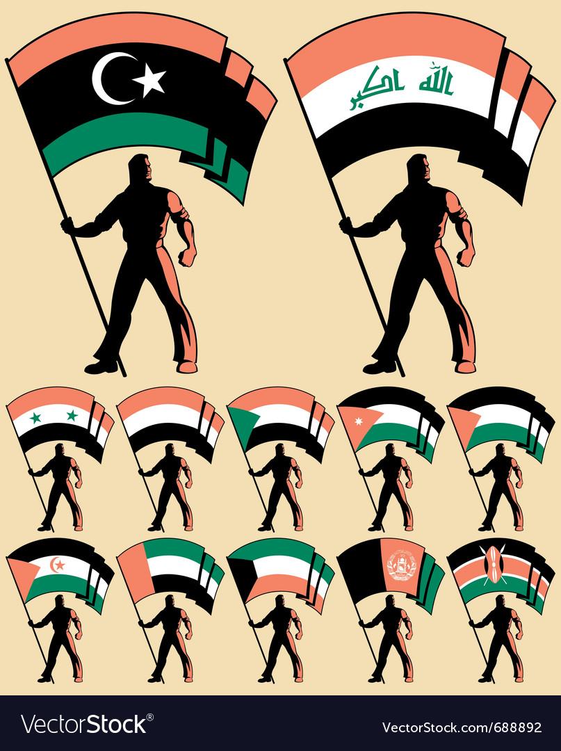 Flag bearer 4 vector