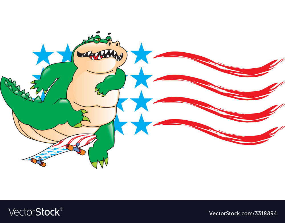 Crocodile skater vector