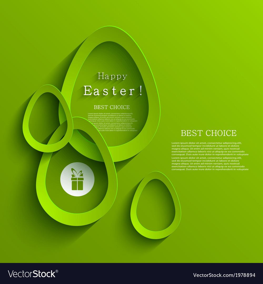 Modern easter egg background eps 10 vector