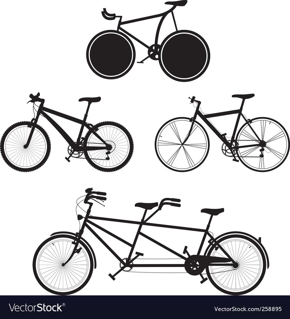 Bicycles vector