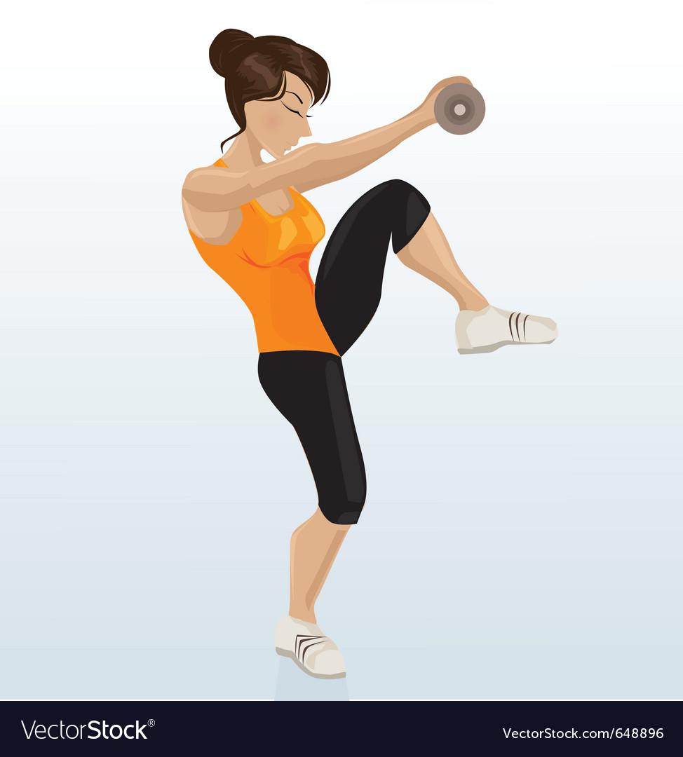 Female exercising vector