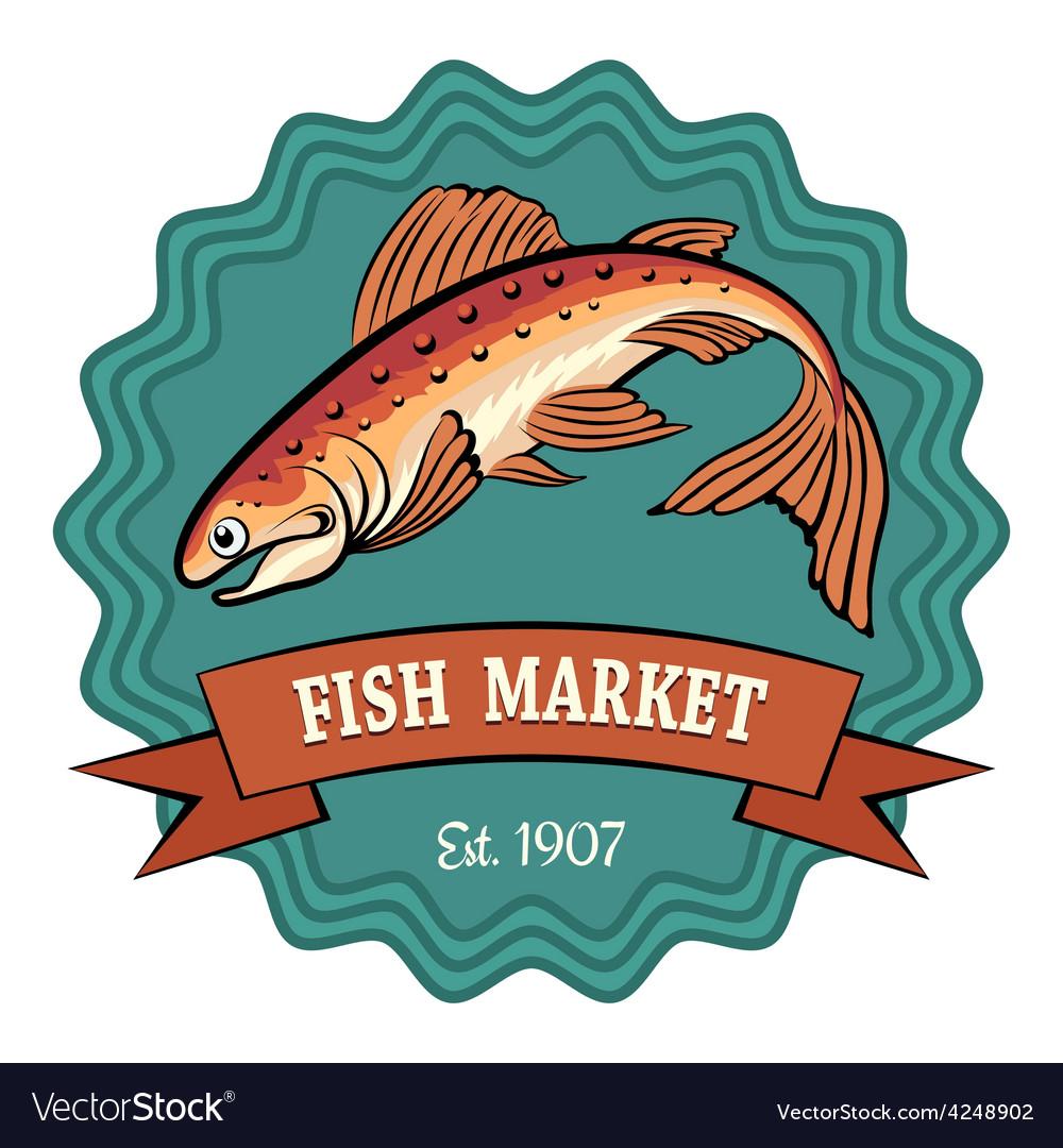 Fish market vector