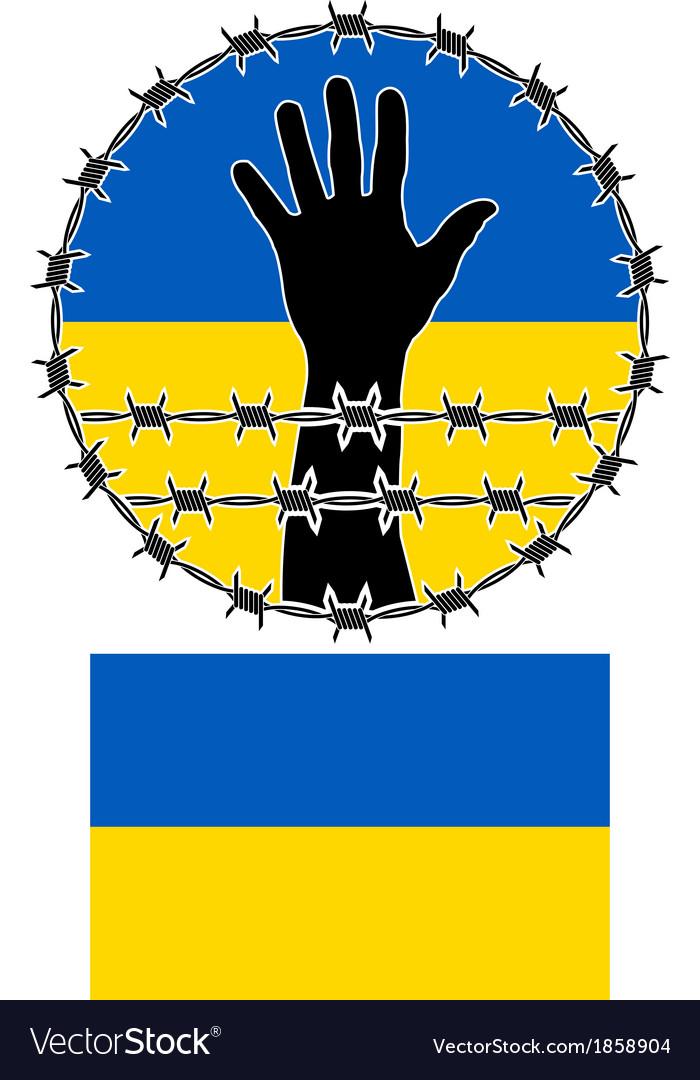 Violation of human rights in ukraine vector
