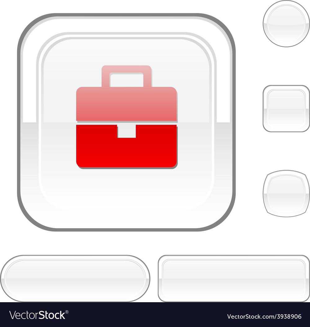 Bag white button vector