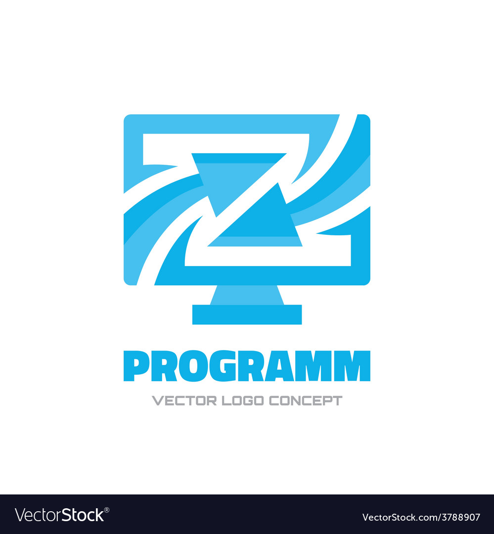 Program - logo concept vector