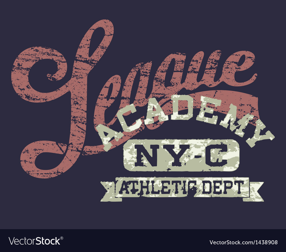 University athletic league vector