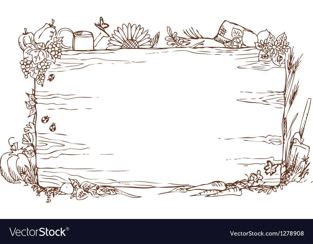 Woody farm sign vector