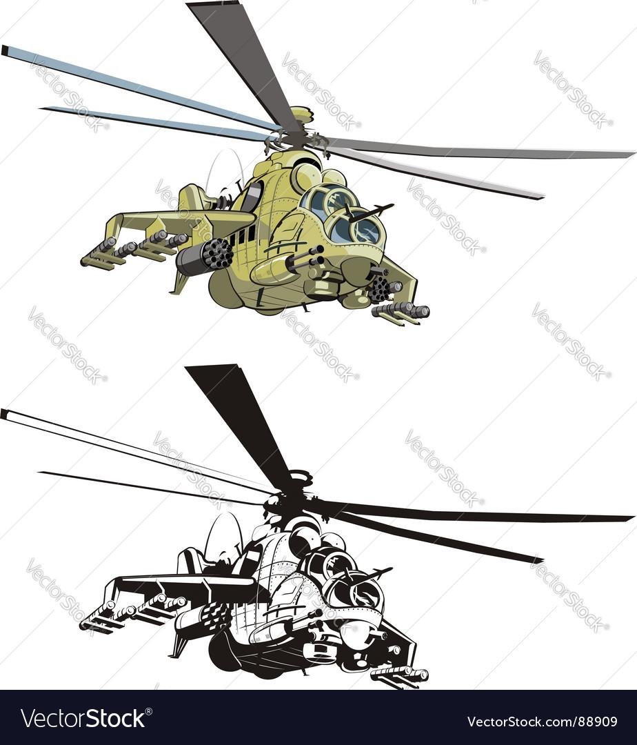 Cartoon strike helicopter vector