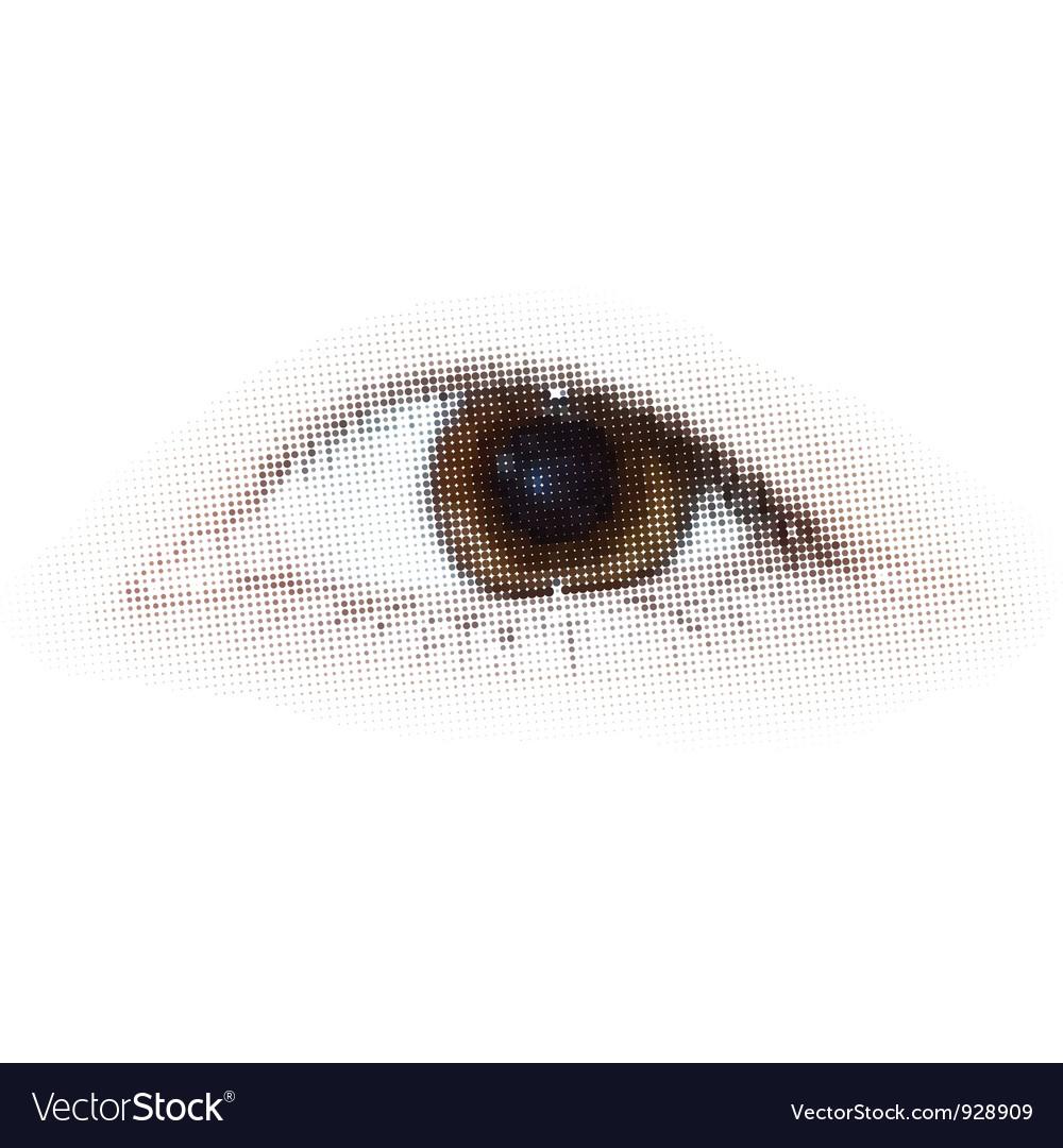 Human halftone dots eye eps 8 vector