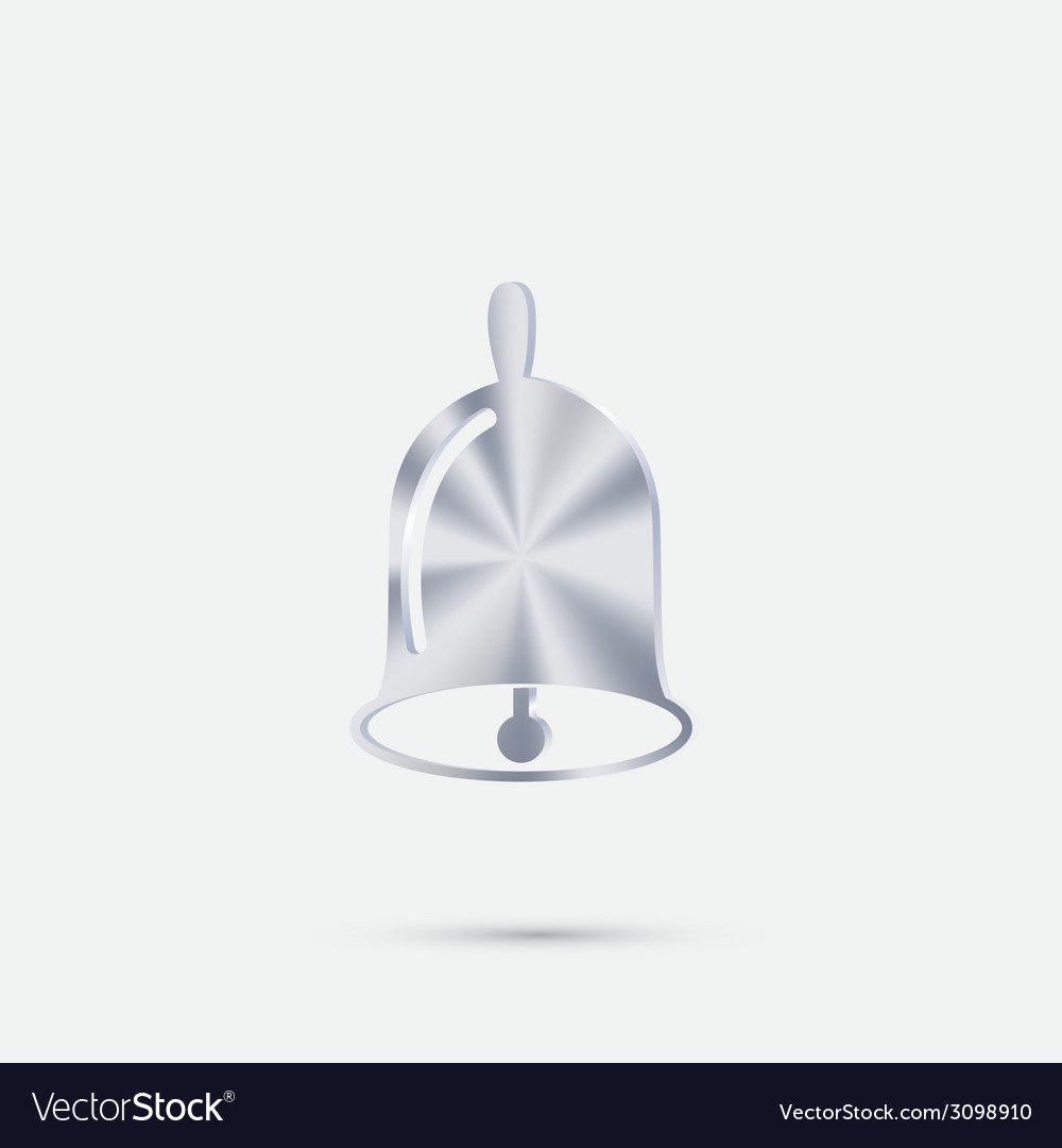 Bell first call a symbol of the school beginning vector