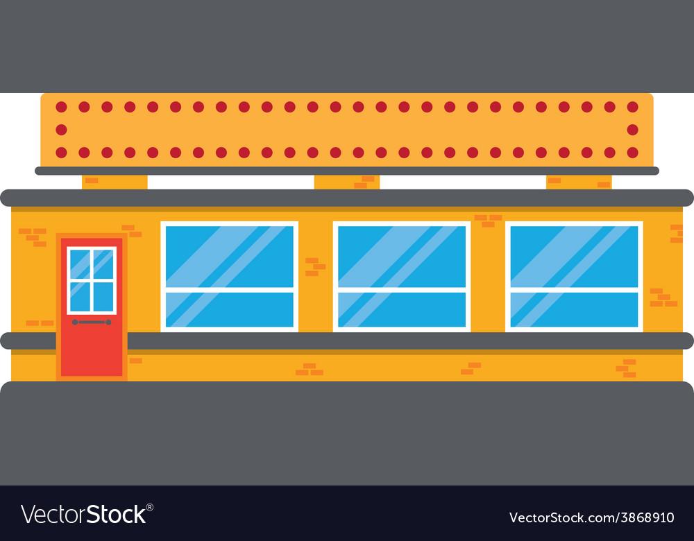 Retro style local grocery market shop vector