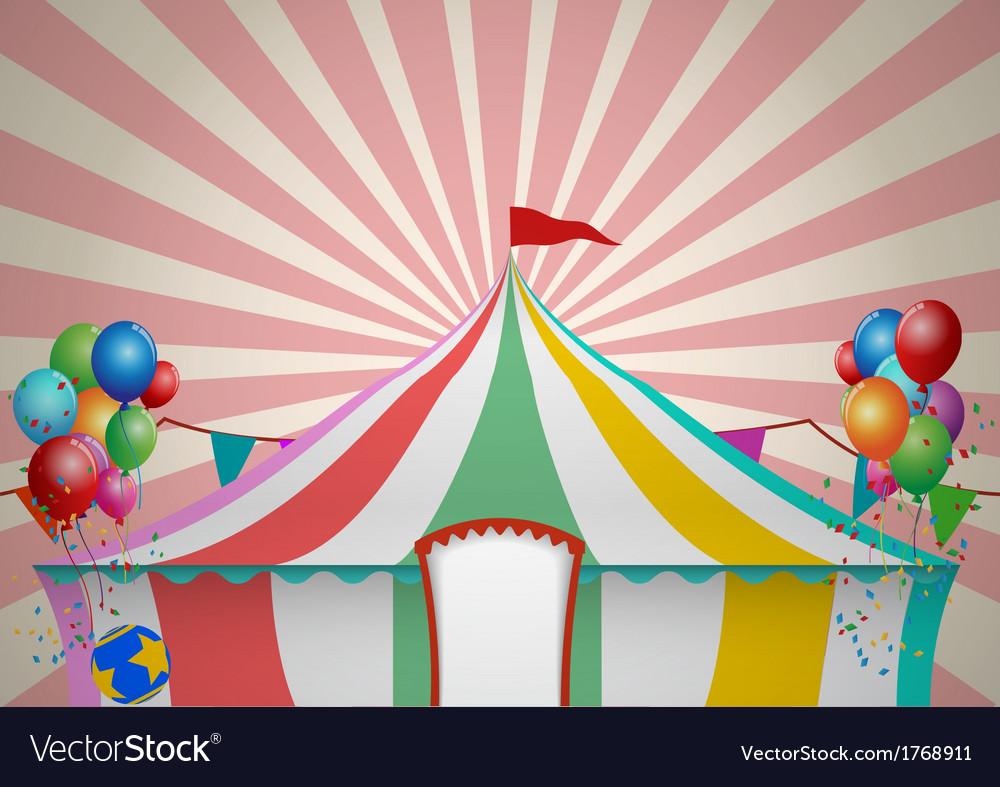 Circus tent celebration vector