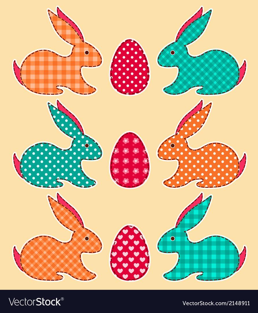 Set of application easter rabbits vector