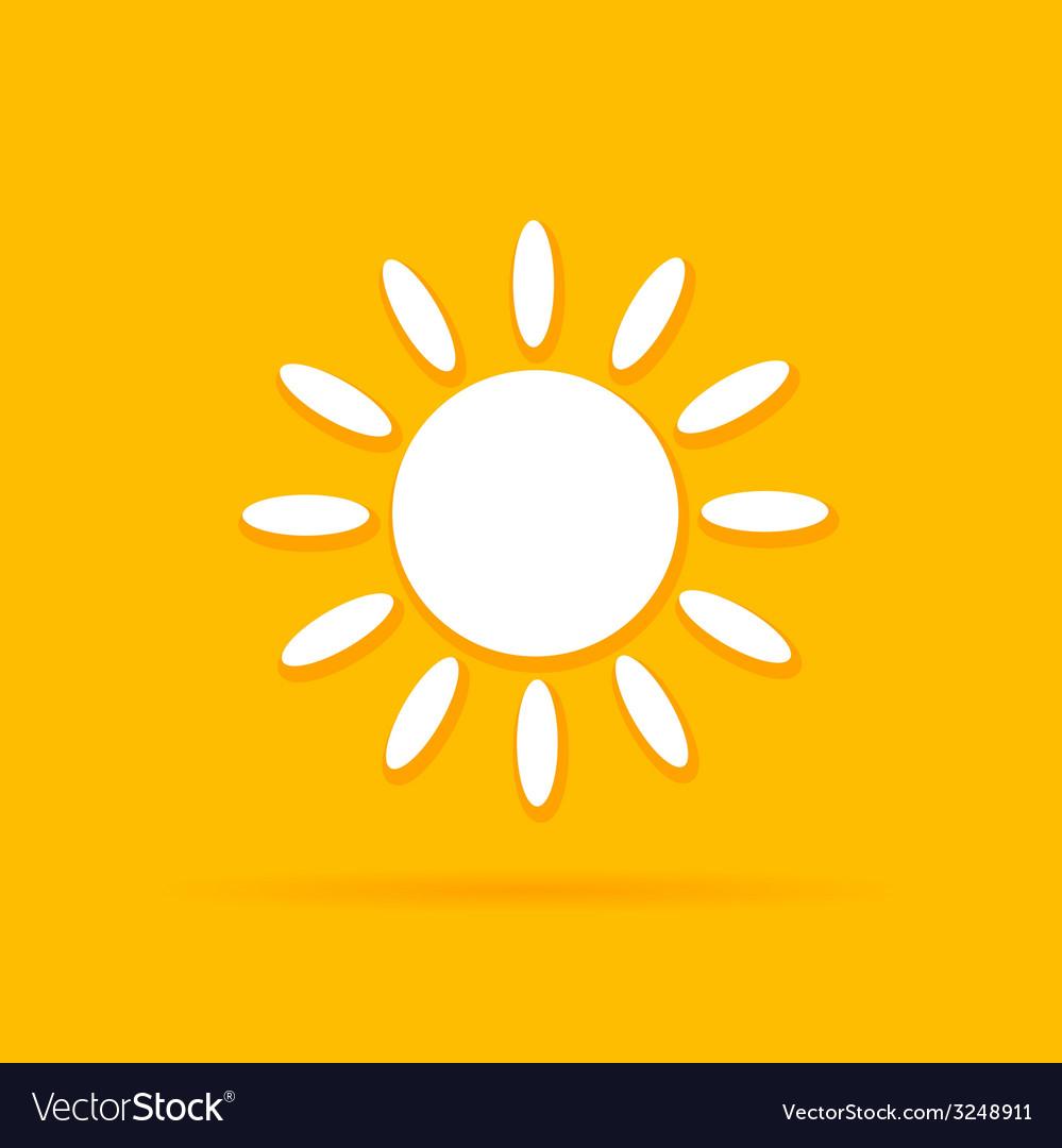 Sun art color vector