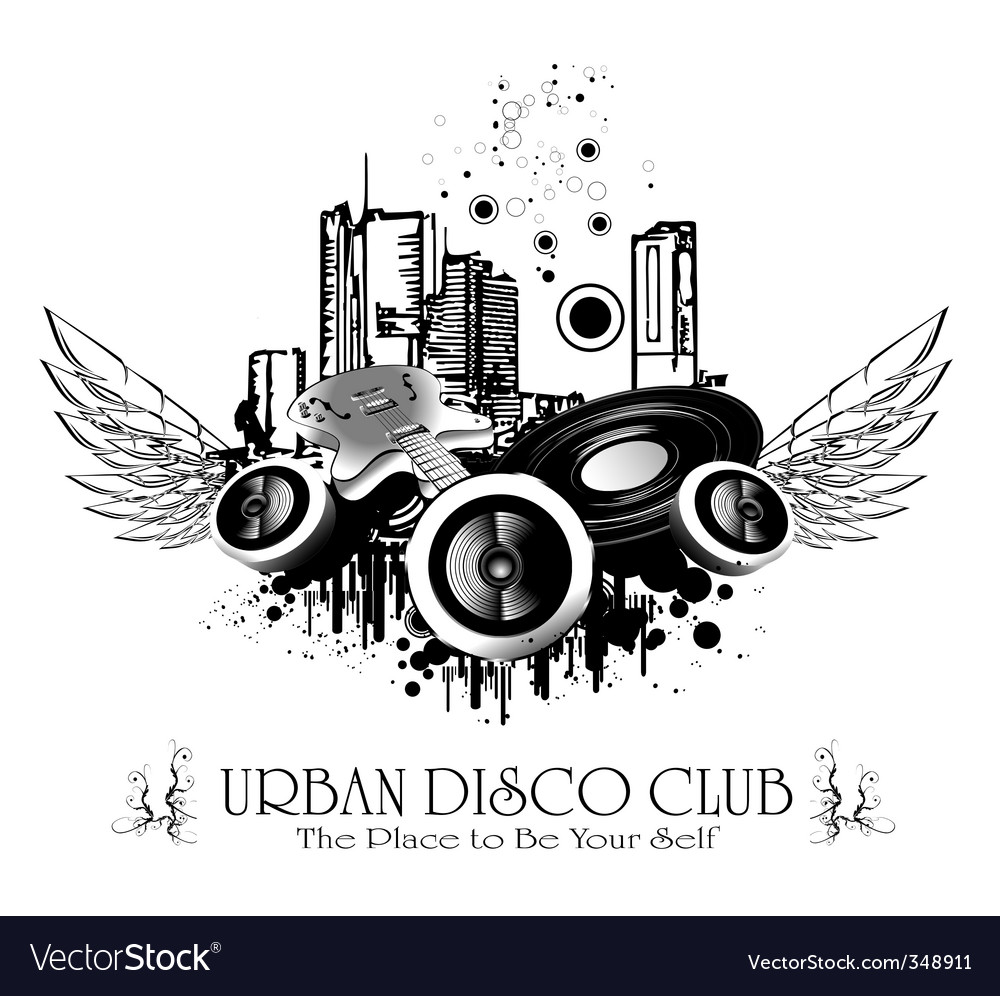 Urban discoteque vector