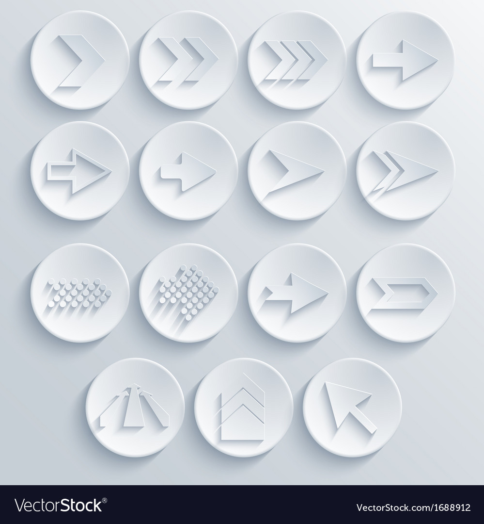 Arrow circle icon set eps 10 vector