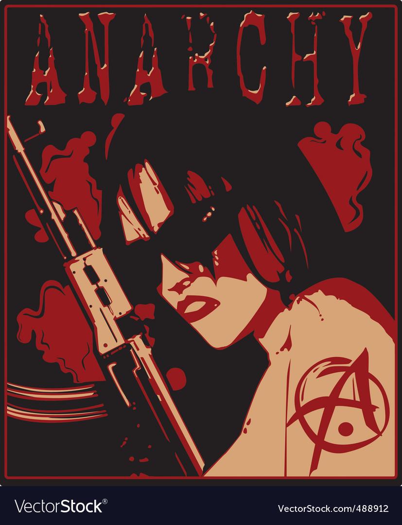 Girl anarchy vector