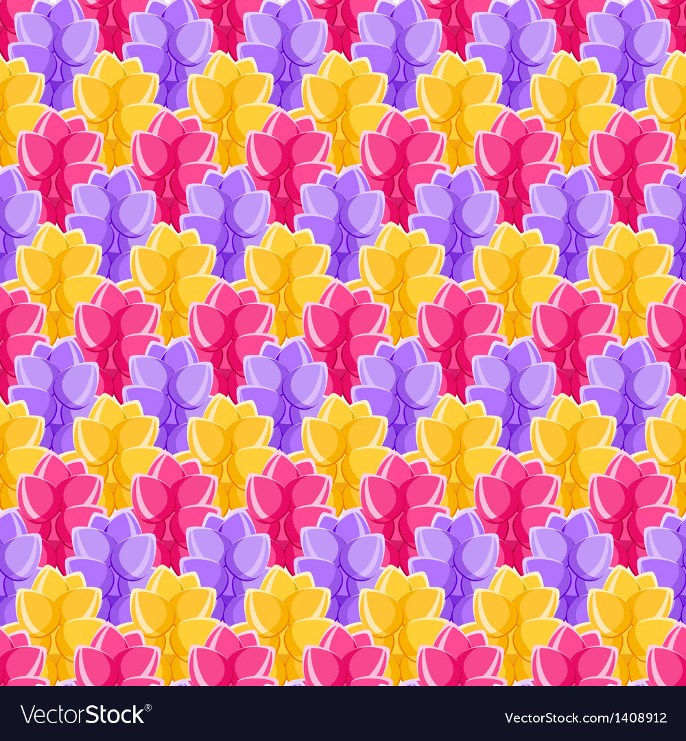 Seamless pattern with plant in a row vector