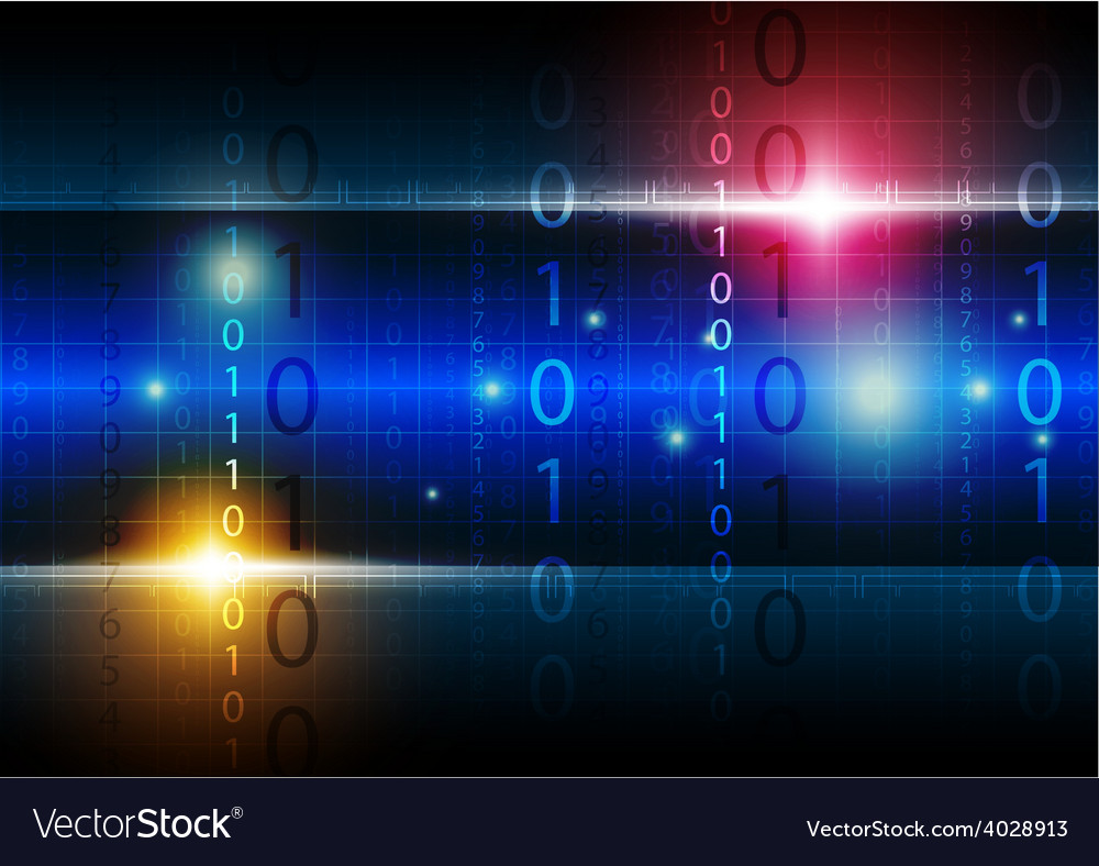 Digital technology background vector