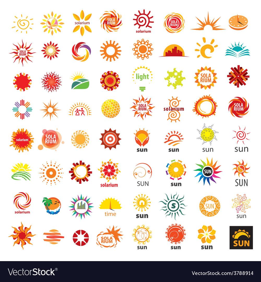 Big set of logos sun vector