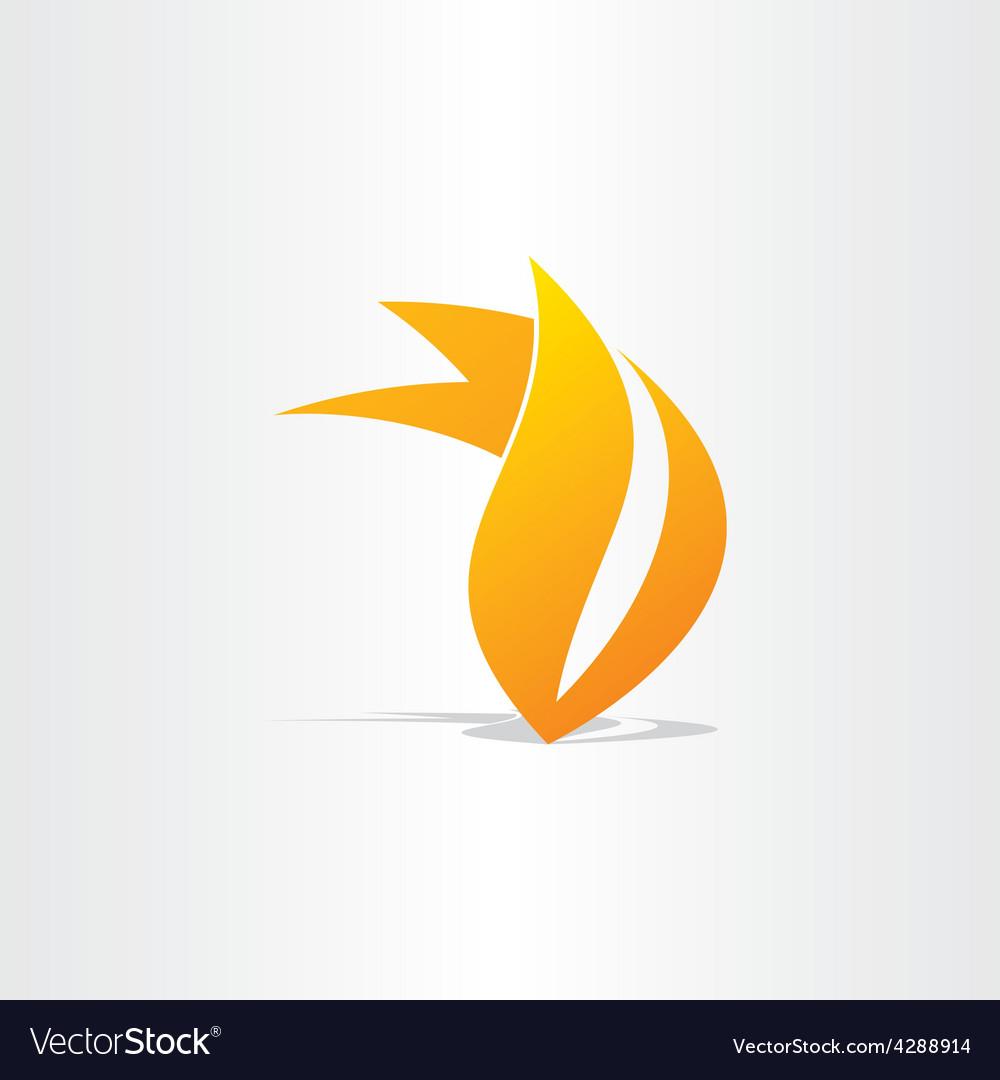 Fire burn symbol design vector