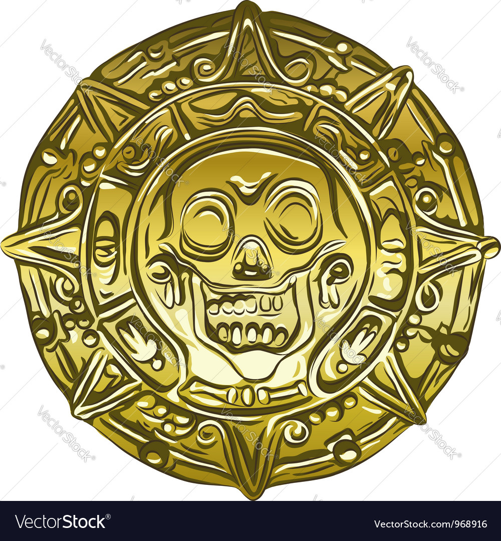 Gold money pirate coin vector
